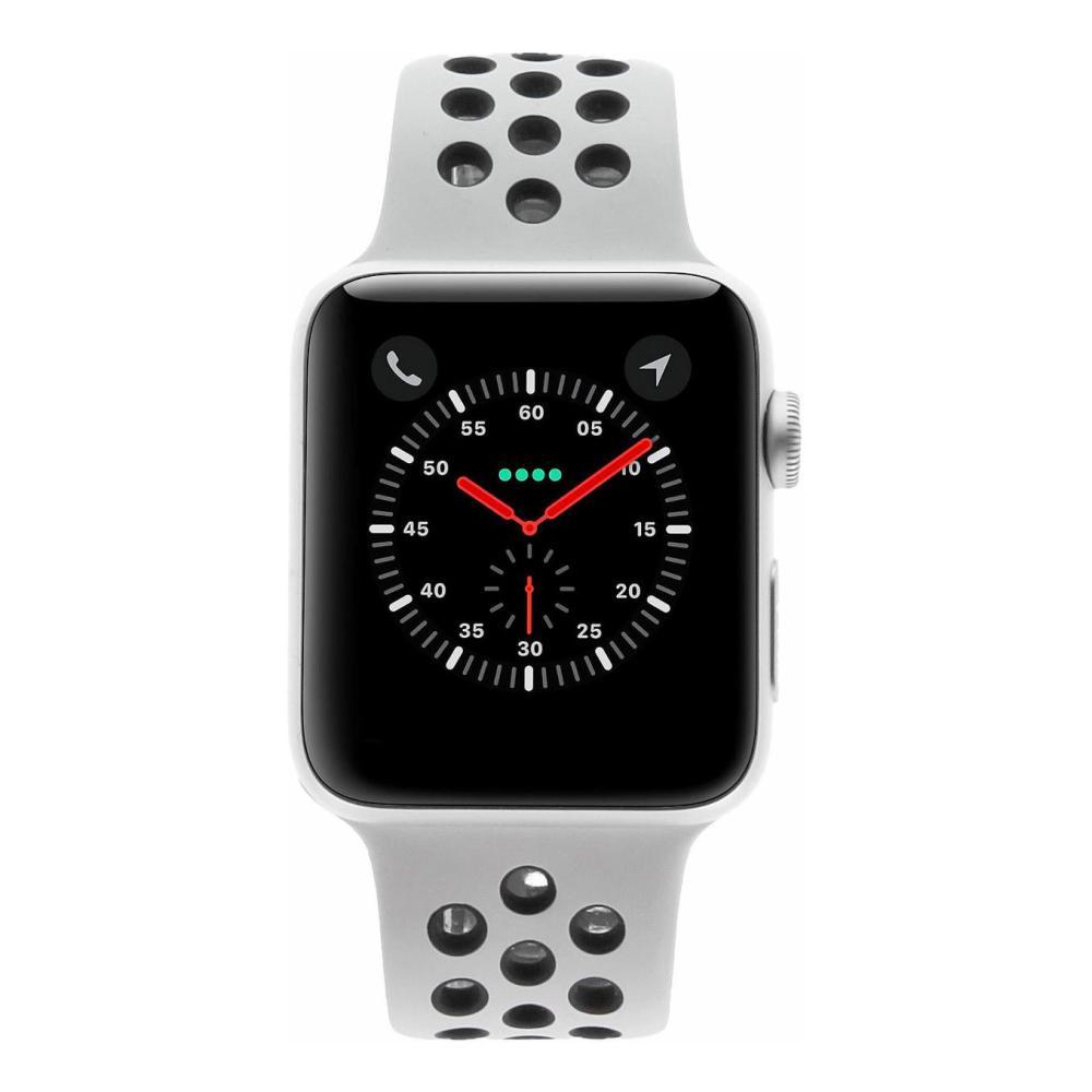 fd05c0e7109 Apple Watch Series 3 42mm caja de aluminio en plata y correa deportiva Nike  pure platinum