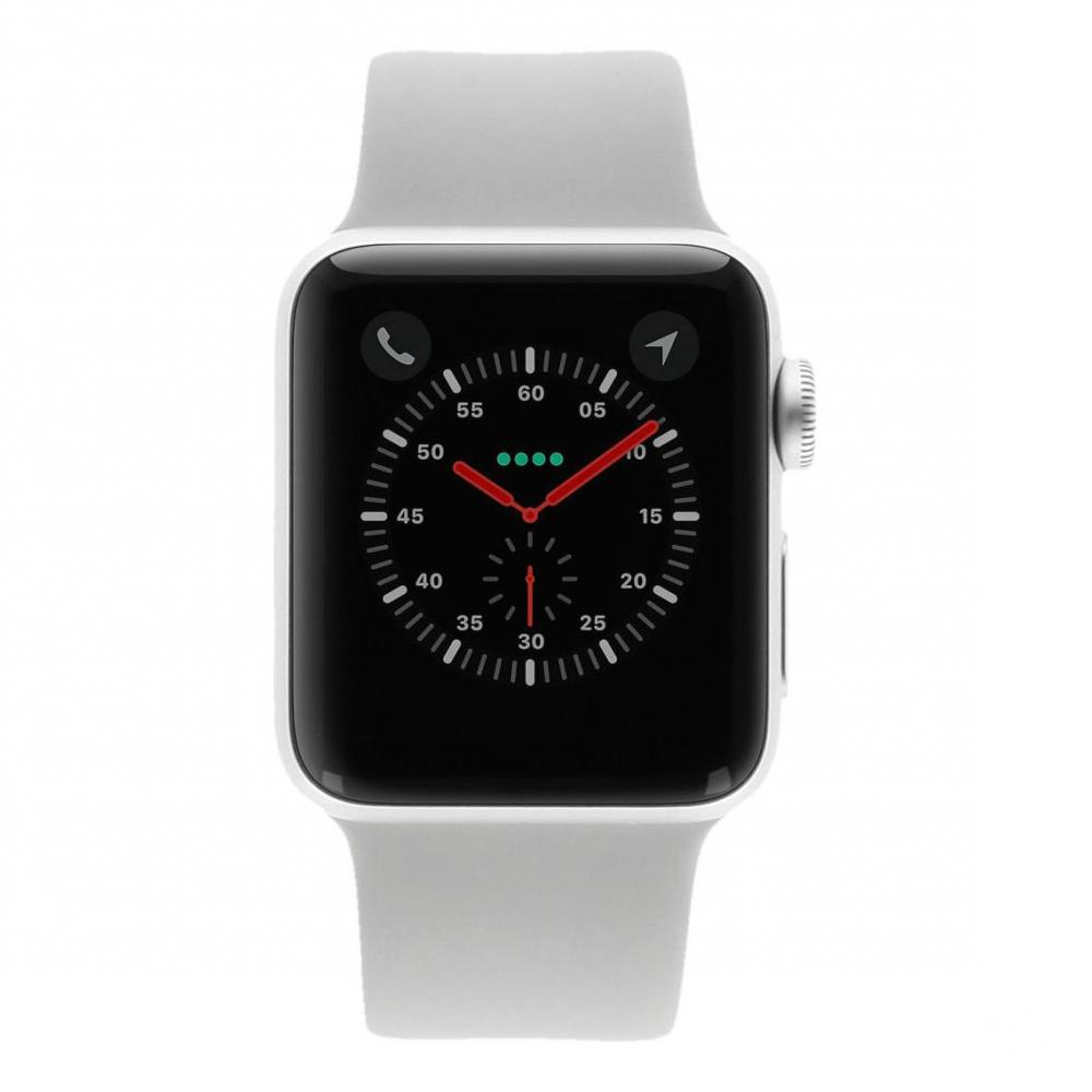 54c0d568452cd Apple Watch Series 3 - boîtier en aluminium argent 38mm - bracelet sport  gris (GPS