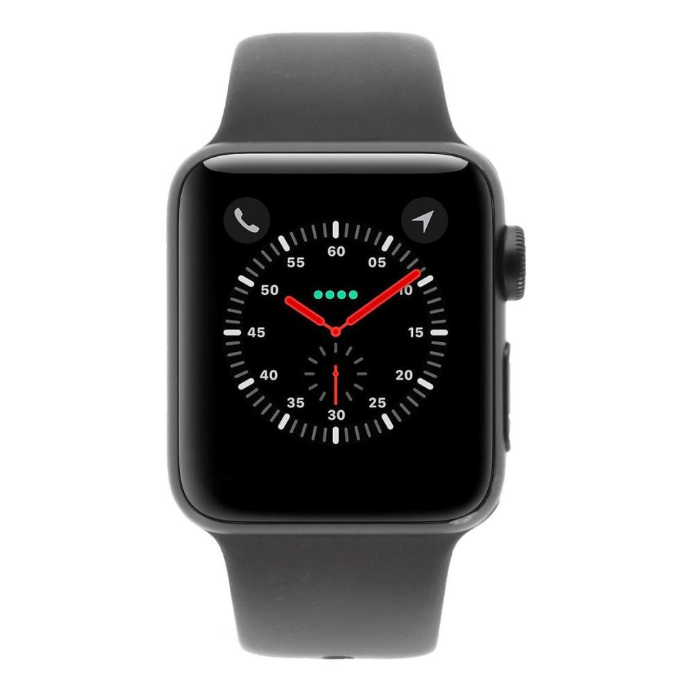 Apple Watch Series 3 boitier en aluminiumgris 38mm avec Bracelet sport gris  (GPS + Cellular dbac44b84eac