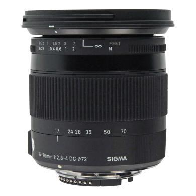 Sigma 17-70mm 1:2.8-4 DC OS HSM Macro Contemporary pour Nikon noir - Neuf