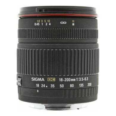 Sigma pour Canon 18-200mm 1:3.5-6.3 DC noir - Neuf