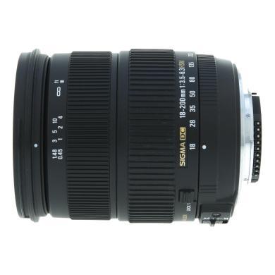 Sigma 18-200mm 1:3.5-6.3 OS DC para Nikon negro - nuevo