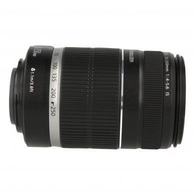Canon EF-S 55-250mm 1:4-5.6 IS noir - Comme neuf