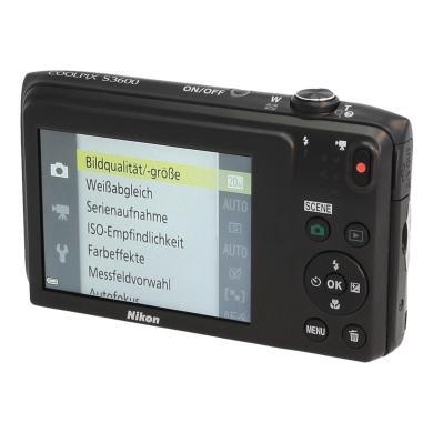 Nikon Coolpix S3600 noir - Neuf