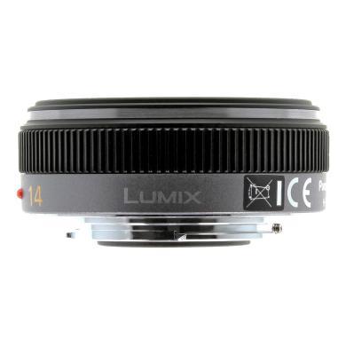 Panasonic 14mm 1:2.5 Lumix G ASPH (H-H014E) plata negro - nuevo
