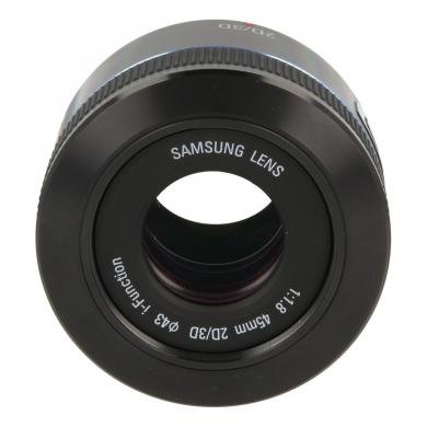 Samsung 45mm 1:1.8 NX 2D/3D i-Function noir - Comme neuf