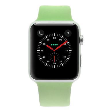 Apple Watch Sport (Gen. 1) 42mm carcasa de aluminioplata con con correa deportiva verde Plata - nuevo