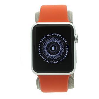 Apple Watch Sport 42mm con con correa deportiva naranja Plata - nuevo