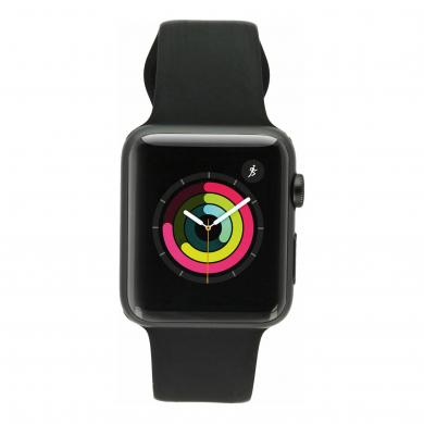 Apple Watch Sport (Gen. 1) 42mm Aluminiumgehäuse Spacegrau mit Sportarmband Schwarz Aluminium Spacegrau - gut