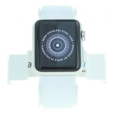 Apple Watch 38mm con con correa deportiva blanco Acero inoxidable plata - nuevo