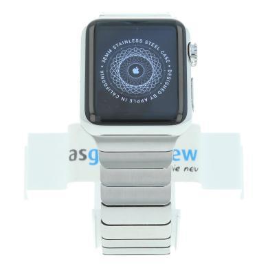 Apple Watch (Gen. 1) 38mm Edelstahlgehäuse Silber mit Gliederarmband Silber Edelstahl Silber - neu