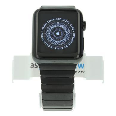 Apple Watch 42mm mit Gliederarmband schwarz Edelstahl Spaceschwarz - neu