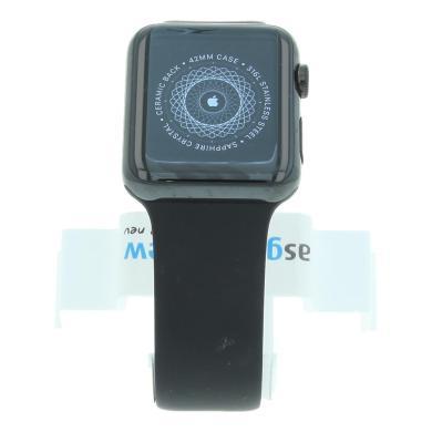 Apple Watch (Gen. 1) 42mm carcasa inoxidable negro con con correa deportiva negro Negro - nuevo