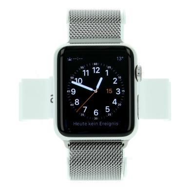 Apple Watch (Gen. 1) 42mm Edelstahlgehäuse Silber mit Milanaise-Armband Silber Silber - neu