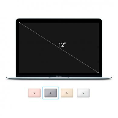 "Apple Macbook 2015 12"" (QWERTZ) écran Retina Intel Core M 1,2GHz 512Go SSD 8Go gris sidéral - Bon"