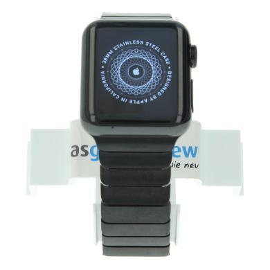 Apple Watch (Gen. 1) 38mm carcasa inoxidable negro con pulsera de cadena negro Negro - nuevo