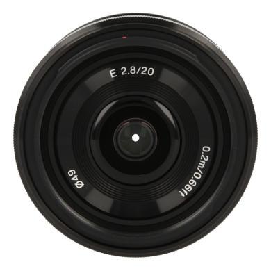 Sony 20mm 1:2.8 AF E noir - Neuf