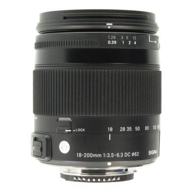 Sigma 18-200mm 1:3.5-6.3 DC OS HSM Contemporary für Nikon Schwarz - neu