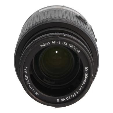 Nikon AF-S Nikkor 55-200mm 1:4.0-5.6G ED VR II DX noir - Neuf