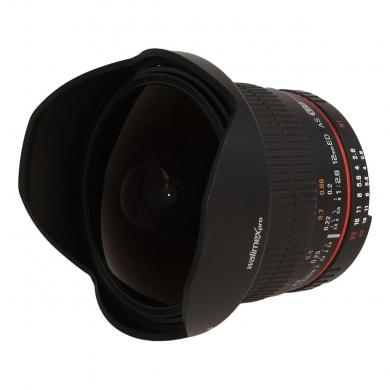 Walimex Pro 12mm 1:2.8 Fisheye F AE für Nikon Schwarz - neu