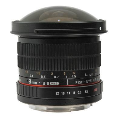 Walimex Pro 8mm 1:3.5 Fisheye II para Canon negro - nuevo