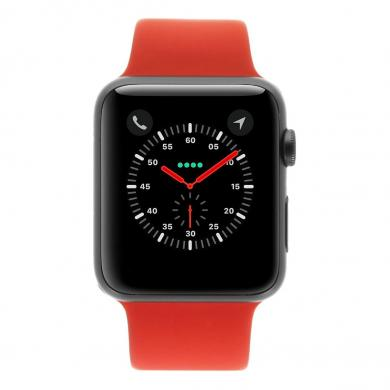 Apple Watch Sport 42mm mit Sportarmband rot aluminium spacegrau - neu