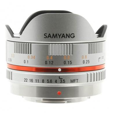 Samyang 7.5mm 1:3.5 Fisheye para Micro-Four-Thirds plata - nuevo
