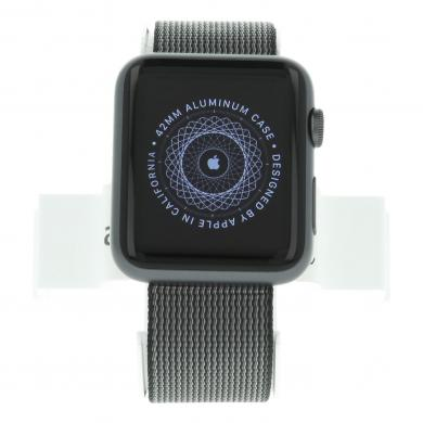 Apple Watch Sport - caja de aluminio en gris espacial 42mm - correa de nailon negra - buen estado