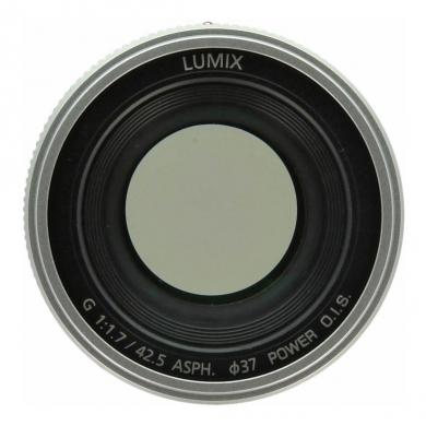 Panasonic 42.5mm 1:1.7 Lumix G ASPH Power OIS argent - Neuf