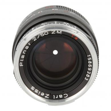 Zeiss Planar T* 2/50 ZM mit Leica M Mount Schwarz - neu