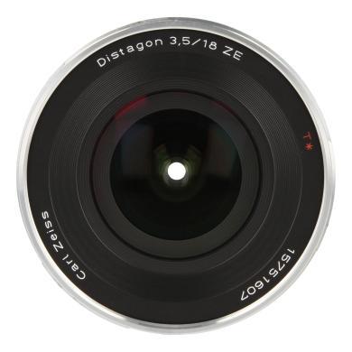 Zeiss Distagon T* 3.5/18 ZE avec Canon EF Mount noir - Neuf