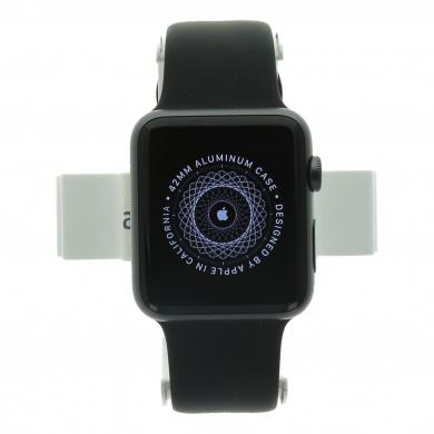Apple Watch (Series 1) 42mm Aluminiumgehäuse Spacegrau mit Sportarmband Schwarz Aluminium Spacegrau - neu
