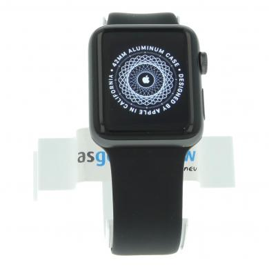 Apple Watch Series 2 Aluminiumgehäuse dunkelgrau 42mm mit Sportarmband schwarz aluminium dunkelgrau - neu
