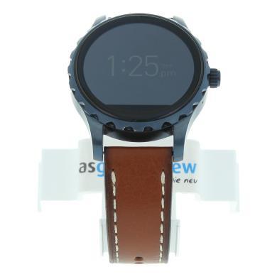 Fossil Q Marshal (Gen. 2) - bleu avec bracelet en cuir marron (FTW2106) - Neuf