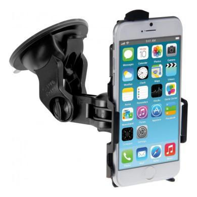 kwmobile Autohalterung (Scheibe) für Apple iPhone 6 / 6S Schwarz schwarz - neu
