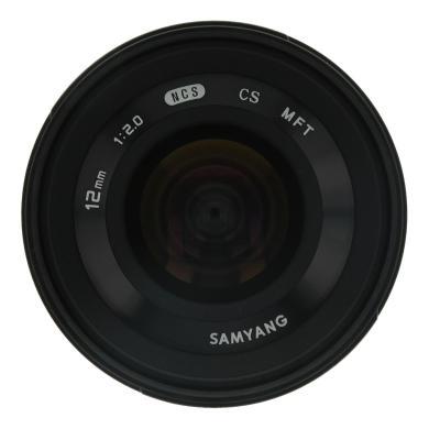 Samyang 12mm 1:2.0 NCS CS para Micro-Four-Thirds negro - nuevo