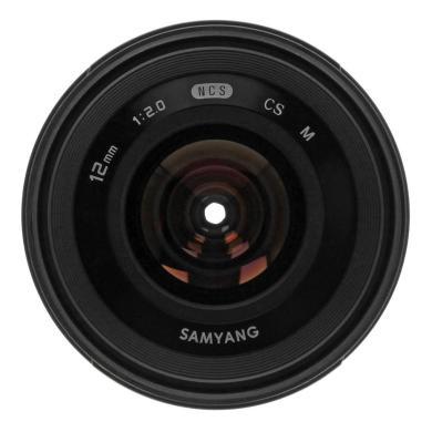 Samyang 12mm 1:2.0 NCS CS para Canon EF-M negro - nuevo