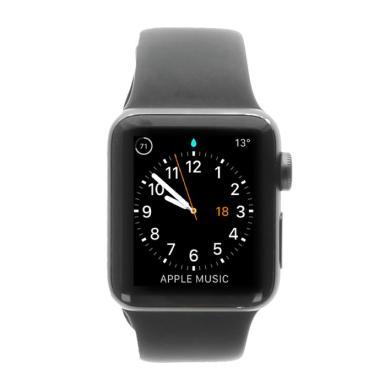 Apple Watch Series 2 boitier en aluminiumgris foncé 38mm avec Bracelet sport noir argent girs - Neuf