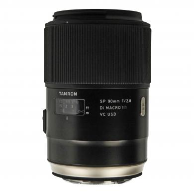 Tamron 90mm 1:2.8 SP AF Di VC USD macro 1:1 pour Canon (F017E) noir - Neuf