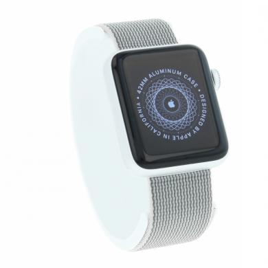 Apple Watch (Series 2) 42mm Aluminiumgehäuse Silber mit Nylon-Armband Pearl Aluminium Silber - neu