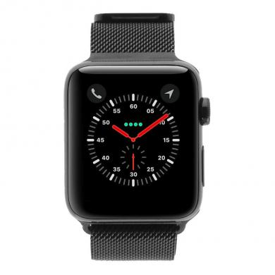 Apple Watch Series 2 - boîtier en acier inoxydable noir sidéral 42mm - bracelet milanais noir - acier inoxydable noir sidéral - Neuf