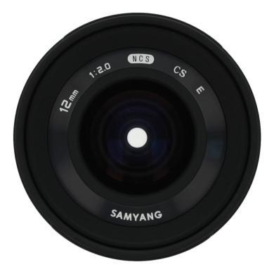 Samyang 12mm 1:2.0 NCS CS para Sony E negro - nuevo