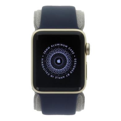 Apple Watch Series 2 - boîtier en aluminium or 38mm - bracelet sport bleu de minuit - Neuf