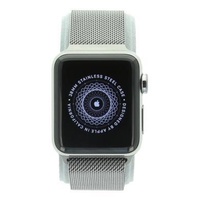 Apple Watch Series 2 - boîtier en acier inoxydable argent 38mm - bracelet milanais en argent - acier inoxydable argent - Neuf