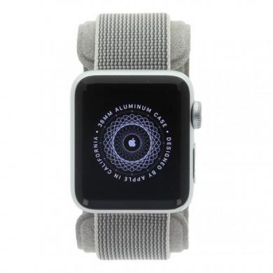 Apple Watch Series 2 carcasa de aluminioplata 38mm con correa de nailon gris Plata - buen estado
