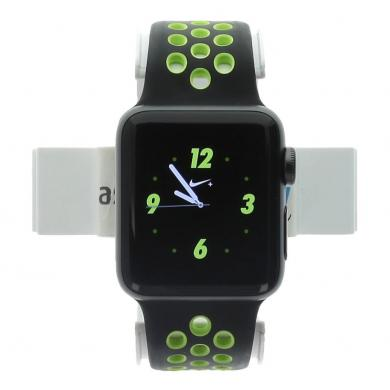 Apple Watch Series 2 Aluminiumgehäuse dunkelgrau 38mm mit Nike+ Sportarmband schwarz/volt aluminium dunkelgrau - neu