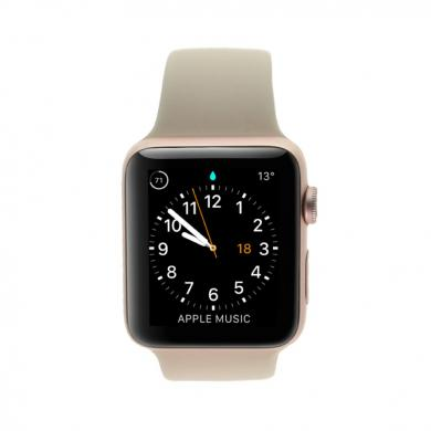 Apple Watch Series 2 - caja de aluminio en oro rosado 42mm - correa deportiva rosa - buen estado