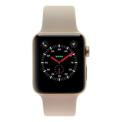 Apple Watch Series 3 boitier en aluminiumor 42mm avec Bracelet sport rose sable (GPS) aluminium or - Neuf