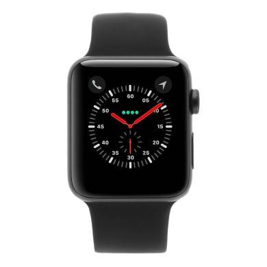 Apple Watch Series 3 Aluminiumgehäuse spacegrau 42mm mit Sportarmband schwarz (GPS) aluminium spacegrau - neu