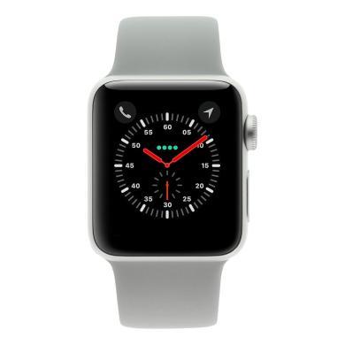 Apple Watch Series 3 Aluminiumgehäuse silber 38mm mit Sportarmband nebel (GPS) aluminium silber - neu